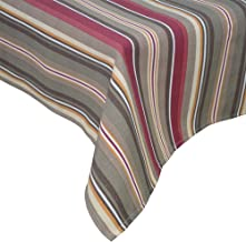 R.LANG Spill Proof Table Runner 14 x 60-inch Kitchen Table Runner for Dinner Parties Brown/Wine Red