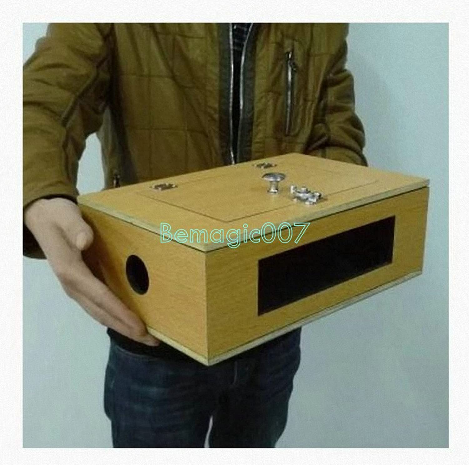 See Thru TipOver Box (Wooden)  Stage Magic Tricks