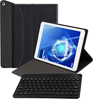 最新型 iPad 第8世代 iPad 10.2/10.5 キーボードケース 第7世代 2019モデル iPad 10.2/iPad Air3/Pro 10.5 汎用 オートスリープ機能 ワイヤレス Bluetooth 着脱式 スマートキーボード...