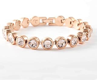 Touchstone Crystal by Swarovski Rose Gold Silk Ice Bracelet