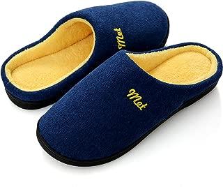 Zapatillas de Estar por Casa Hombre Invierno Memory Foam Pantuflas Peluche Algodón Suela de Goma Antideslizante