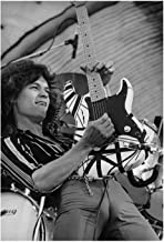 Eddie Van Halen Poster, vintage poster, black and white photo, housewarming gifts for him/her, gift for him/her,movie poster, iconic photo,wall decoration