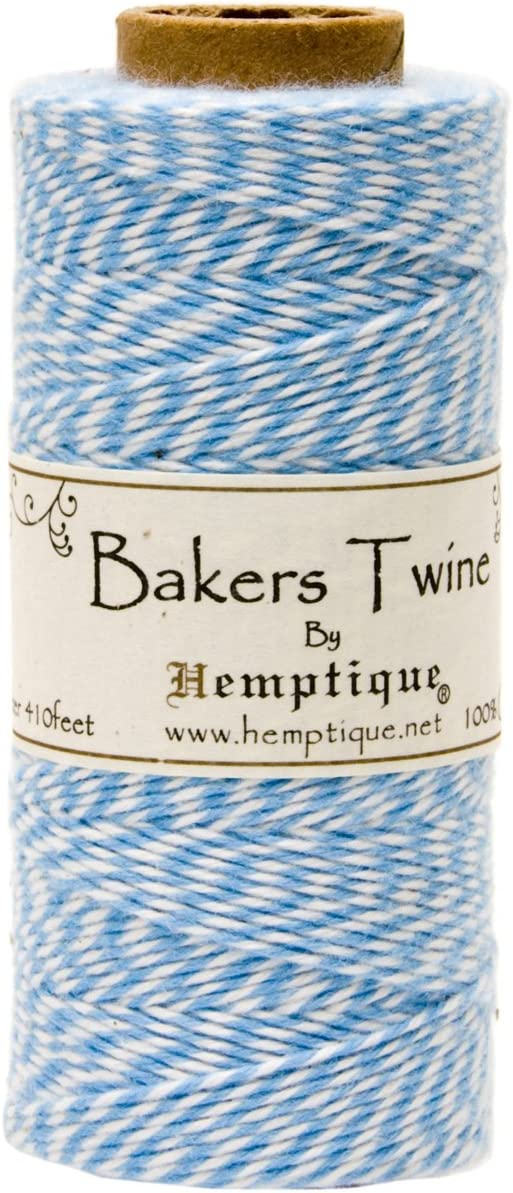 Hemptique Cotton Baker's Twine Max 54% OFF excellence Spool Blue 2 Ply Light 410-Feet