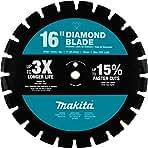 "Makita E-02543 16"" Diamond Blade, Segmented, Dual Purpose"
