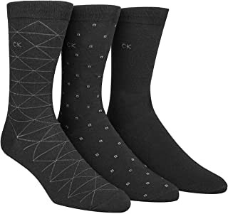 Men's 3 Pack Fashion Geometric Casual Crew Socks