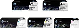 Replacement Hewlett Packard (HP) Color LaserJet Pro Color 300 or 400 Series printer Set of 5 Toner Cartridges 2 x CE410X, 1 x CE411A, 1 x CE412A, 1 x CE413A