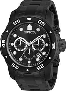 Invicta Men s 0076 Pro Diver Collection Chronograph Black Ion-Plated  Stainless Steel Watch 65dc173941a