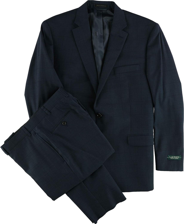Ralph Lauren Mens 2 Piece Formal Tuxedo, Blue, 48 Long / 43W x UnfinishedL