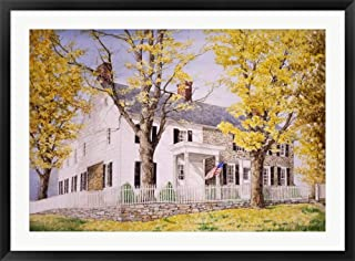 The Picket Fence by Dan Campanelli Framed Art Print Wall Picture, Black Frame, 42 x 31 inches