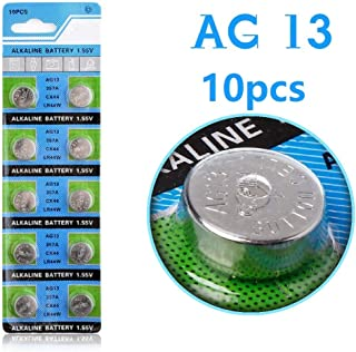 Cotchear 10 Pcs AG13 LR44 357A S76E G13 Alkailine Button Cell Battery Coin Batteries