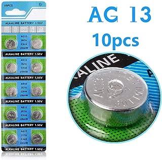 Cotchear 10 Pcs AG13 LR44 357A S76E G13 Alkailine Button Cell Battery Coin Batteries