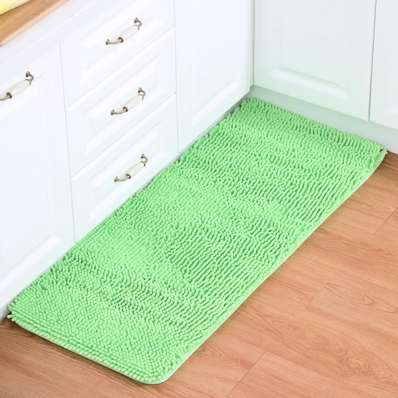 Chenille mat Floor mats Water-Absorption Bathroom Anti-Slip mat Doormat Foot Pad Indoor mats Restroom Kitchen mats-E 70x140cm(28x55inch)