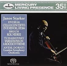 Dvorák Cello Concerto in B minor, Op. 104; Bruch Kol Nidrei; Tchaikovsky Variations on a Rococo Theme / Dorati, Starker, London Symphony Orchestra 3-Channel and Stereo