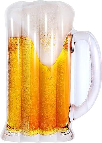 Myself-Inflatable floating row Tasse de bière Flotter Rangée Gonflable Tapis Flottant Coussin d'eau été portable Piscine Plage Plage Flottant Décoration Décoration Enfants Enfants Couple