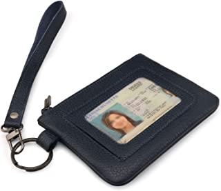 Otto Angelino Genuine Leather Zippered ID Wallet with Wrist Strap – Unisex