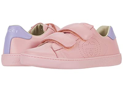 Gucci Kids New Ace Sneaker (Little Kid/Big Kid) (Wild Rose/Lapis) Girl