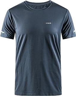スポーツウェア Tシャツ メンズ 半袖 スポーツシャツ 吸汗速乾 通気性 反射素材デザイン 抗菌 防臭 1-5枚組