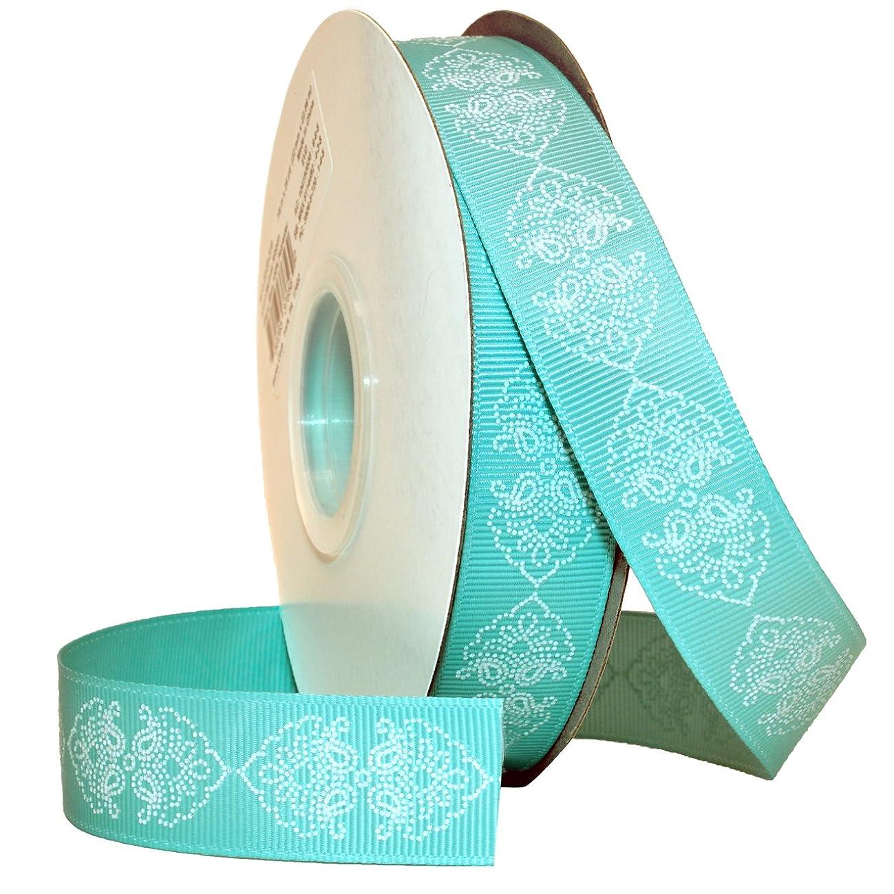 Morex Ribbon Melissa, Grosgrain, 7/8-Inch by 25-Yard, Tiara Blue