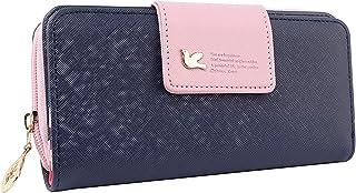 Futurekart Leather Long Wallet for Girls and Women (Dark Blue)