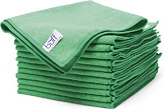 Buff Microfiber Cleaning Cloth   Green (12 Pack)   Size 16