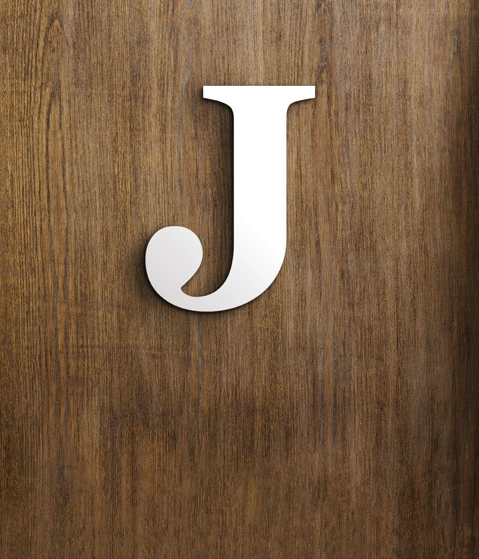 PVC Letras Decorativas para Pared Letra N Altura de 20 cm y Grosor de 1 cm Uso Interior y Exterior Color Blanco
