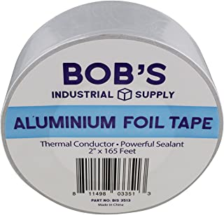 """Bob's 2"""" inch Aluminum Foil Tape – Pipe Wrap Insulation Heat Resisting Thermal Tape Silver Heat Reflective Duct Tape"""