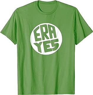 ERA YES Shirt - Circle Equal Rights Amendment Tshirt WHITE