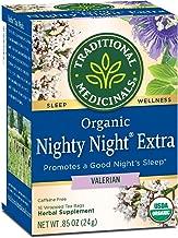 Traditional Medicinals Organic Nighty Night Valerian Herbal Tea - 16 bags per pack - 6 packs per case.