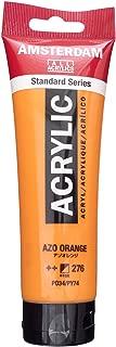 Royal Talens Amsterdam Standard Series Acrylic Color, 120ml Tube, AZO Orange (17092762)