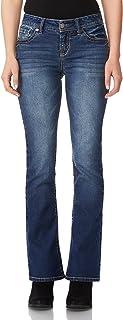 WallFlower Women`s Juniors Legendary Stretch Bootcut Denim Jeans (Size: 0-24 Plus / 28-30-32 Inseam)