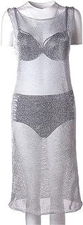 Cover ups Bikini Swimwear Metal Knitted Beach Swimsuit Hollow