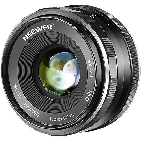 Neewer 35mm F/1.7大口径APS-Cプライムマニュアルフォーカスレンズ Canon EF-M EOS-M マウントミラーレスカメラEOS M M2 M3 M5 M6 M10 M50 M100などに対応