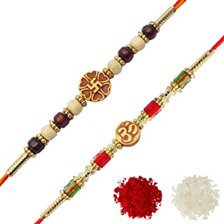 YouBella Rakhi Combo for Brother (Multi-Colour) (YBRK_71)