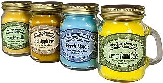 (100ml) - 4 Pack Everyday Assortment Mini Mason Jar Candles - 100ml French Vanilla, 100ml Fresh Linen, 100ml Lemon Poundca...