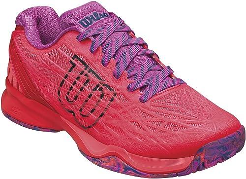 Wilson Wrs323420e045, Chaussures de Tennis Femme, Orange (Fiery Coral Fiery rouge Rose Violet), 37 2 3 EU