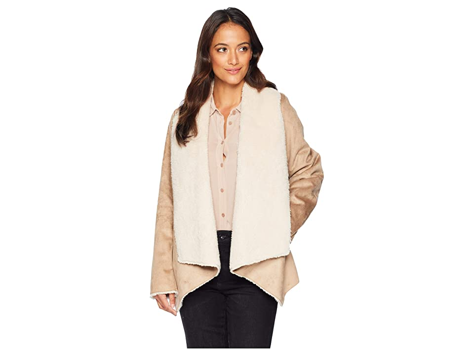 Kenneth Cole New York Fur Suede Jacket (Taupe) Women