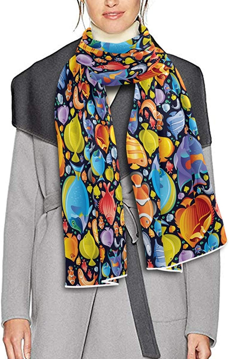 Scarf for Women and Men Sea Travel Animal Fish Butterfly Blanket Shawl Scarf wraps Soft thick Winter Oversized Scarves Lightweight
