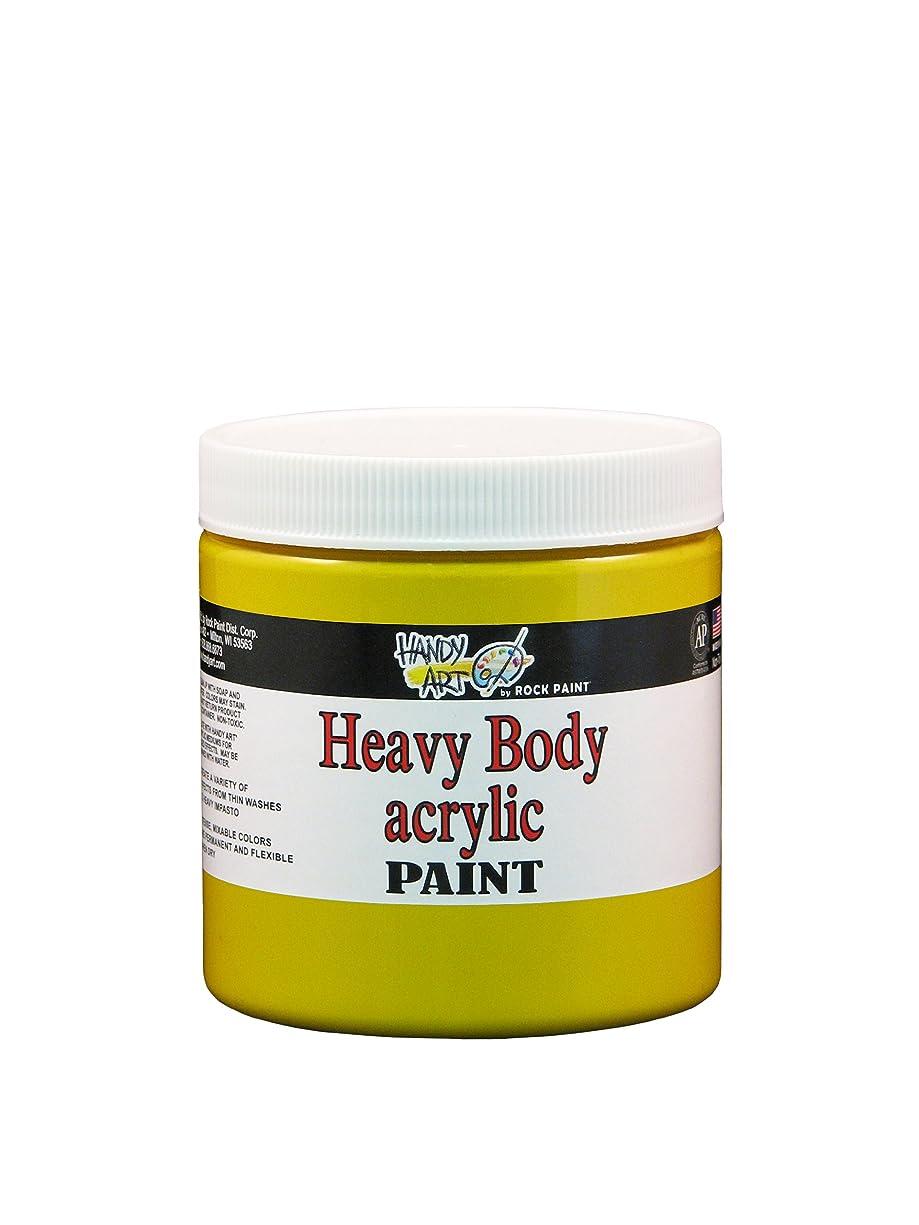 Handy Art Nu Master Heavy Body Acrylic Paint 8 ounce, Primary Yellow