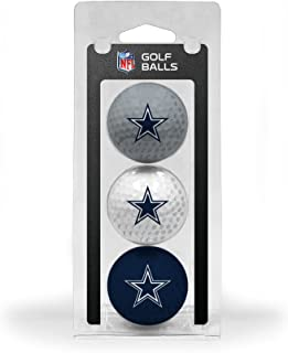 Team Golf NFL Regulation Size Golf Balls, 3 Pack, Full Color Durable Team Imprint