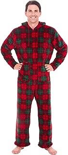 Men's Warm Fleece One Piece Footed Pajamas, Adult Onesie...