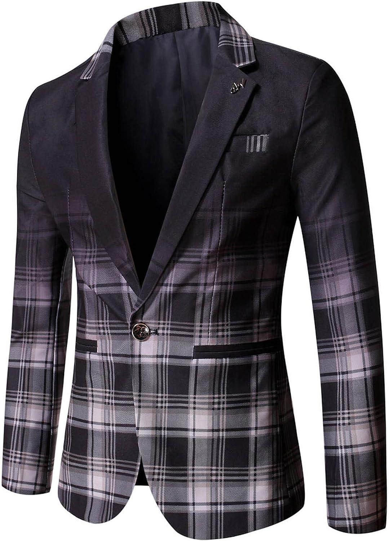 Tpingfe Large-scale sale store Suit Blazer Jacket Men's Casual Button Sport Coat One Pr