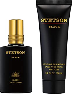 Stetson Black Cologne Spray & After Shave Balm With Aloe, 2 Count
