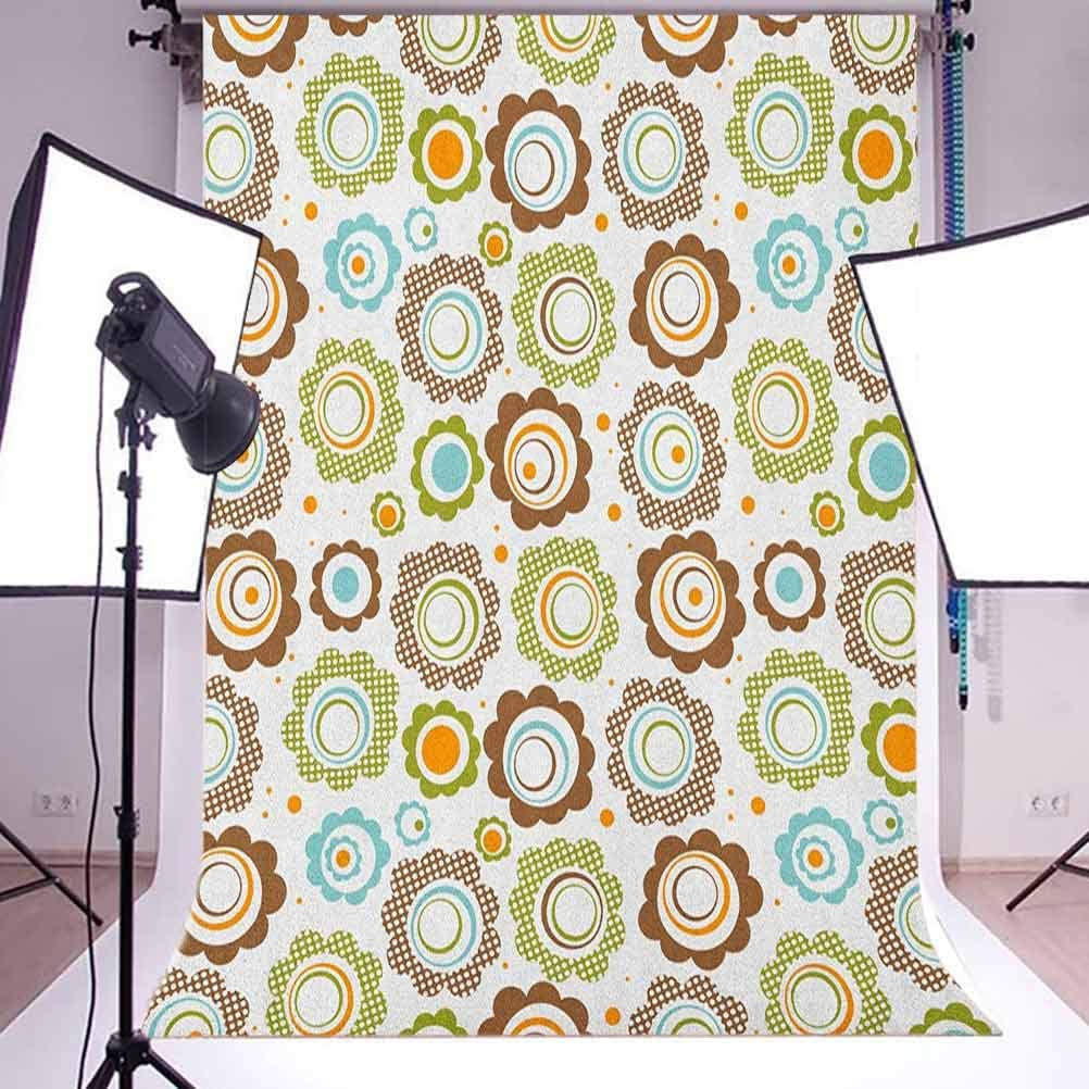 8x12 FT Pastel Vinyl Photography Backdrop,Stylized Abstract Floral Motifs Spring Fantasy Nature Inspired Pattern Background for Photo Backdrop Baby Newborn Photo Studio Props