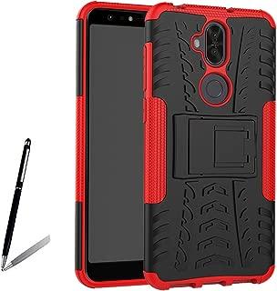 【ANNNGROUP】ASUS ZenFone 5Q ケース Zenfone Z5 Lite ZC600KL ケース超軽量 スタンドカバー スタイリッシュ 衝撃吸収 TPU + PC 二重構Asus ZenFone 5Q ZC600KL/Zenfone Z5 Lite 6.0インチ 保護ケース 全8色可選-タッチペン付き(レッド)