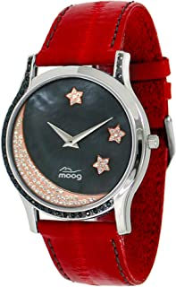 Moog Paris Twilight Women's Black Dial Leather Band Watch -M44394F-004