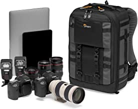 Lowepro LP37268-PWW Pro Trekker 350 Outdoor Camera Backpack with MaxFit Dividers  Fits 15-inch Laptop iPad  for Pro Mirrorless and DSLR  Gimbal  Drone  DJI  Black Dark grey