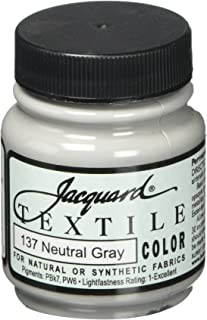 Jacquard Textile Color Fabric Paint 2.25 Ounces-Neutral Gray