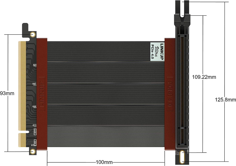 NVIDIA e ITX LINKUP RTX3090 RX6900XT Probado Vertical Gen4 Blindado┃Z/ócalo de GPU Inverso {23cm} Dise/ñados para Las Series ITX AMD6000 Ultra PCIe 4.0 X16 Tarjeta Extensi/ón Cable Elevador