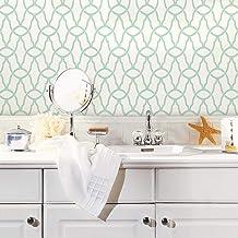 RoomMates Blue Trellis Peel and Stick Wallpaper