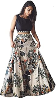 Keya Fab Women's Printed Banglory satin Multi color semi stitched Salwar for Womens and Girls(Free Size; Multi color)